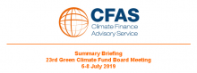 Summary Briefing 23rd Green Climate Fund Board Meeting 6-8 July 2019